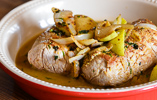 Roast Pork Tenderloin with Onions and Apples