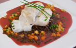 Cod with Puy Lentils