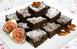 Chocolate Brownies with Figs & Pecans - Gluten Free