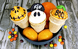 Halloween Ice Cream Cone Cupcakes