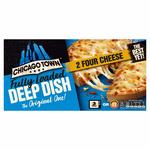 Chicago Town 2 Deep Dish 4 Cheese Pizza Frozen