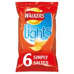 Walkers Lights Simply Salted Crisps 24g x