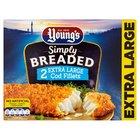 Young's Homestyle 2 XL Cod Fillets in Crisp Breadcrumb Frozen