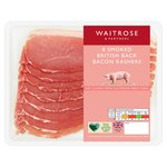 Waitrose 8 Dry Cure Smoked Back Bacon