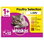 Whiskas 1+ Cat Pouches Poultry in Jelly