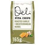 Walkers Market Deli Garlic & Herbs Pita Chips