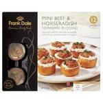 Frank Dale 12 Mini Beef & Horseradish Yorkshire Puddings