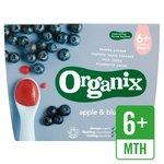 Organix Organic Fruit Puree - Apple & Blueberry