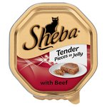 Sheba Tender Pieces Cat Tray Beef in Jelly
