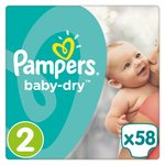 Pampers Baby Dry Nappies Size 2 Essential Pack