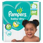 Pampers Baby Dry Nappies Size 6+ Essential Pack