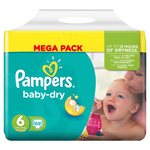 Pampers Baby Dry Nappies Size 6 Mega Pack