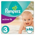 Pampers Active Fit Nappies Size 3 Essential Pack