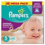 Pampers Active Fit Nappies Size 5 Mega Pack