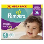 Pampers Active Fit Nappies Size 4 Mega Pack
