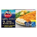Birds Eye 2 Lightly Dusted Cod Fillets Lemon & Black Pepper Crumb Frozen