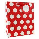 Red Polka Dots Gift Bag Medium