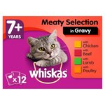 Whiskas 7+ Cat Pouches Meat in Gravy