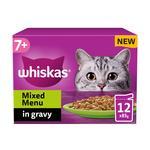 Whiskas 7+ Cat Pouches Meat in Gravy