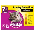 Whiskas 7+ Pouches Poultry in Gravy