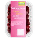 Waitrose British Raspberries Frozen