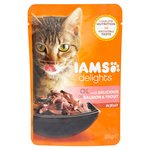 Iams Delights Salmon & Trout in Jelly Pouch