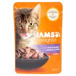 Iams Delights Lamb & Liver in Jelly Pouch