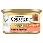Gourmet Gold Cat Food Savoury Cake Salmon
