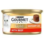 Gourmet Gold Cat Food Savoury Cake Beef