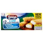 Young's 12 Wheat & Gluten Free Omega 3 Fish Fingers Frozen