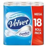 Velvet Comfort White Toilet Tissue
