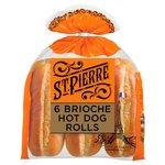 St Pierre Sliced Brioche Hot Dog Rolls