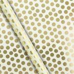 Waitrose Gold Dot On Cream Gift Wrap 4m