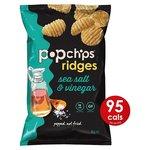 Popchips Ridges Sea Salt & Vinegar Crisps