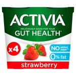 Activia 0% Fat Strawberry Yogurts