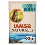 Iams Naturally Adult Cat Pouch with Cod