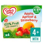 Cow & Gate Apple, Apricot & Strawberry 100% Fruit Pots