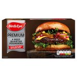 Birds Eye 4 Premium Beef Quarter Pounders Frozen