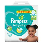 Pampers Baby Dry Nappies Size 6+ Jumbo Pack