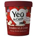 Yeo Valley Strawberries & Cream Ice Cream