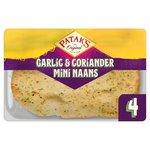 Patak's Mini Garlic & Coriander Naans