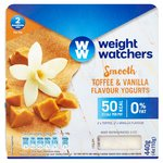 Weight Watchers Toffee & Vanilla Flavour Yogurts