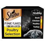 Sheba Fine Flake Pouch Poultry in Jelly