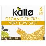 Kallo Organic Very Low Salt Chicken Stock Cubes