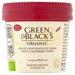 Green & Black's Organic White Chocolate & Raspberry Ice Cream