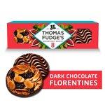 Fudge's Dark Chocolate Florentines