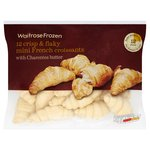 12 Bake From Freezer Mini Butter Croissants Frozen Waitrose