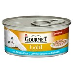 Gourmet Gold Ocean Fish and Spinach