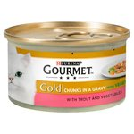 Gourmet Gold Cat Food Trout & Veg in Gravy