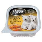 Cesar Puppy Tray Chicken, Rice & Carrot